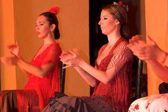 Espectáculo de flamenco en el tablao...