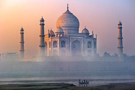 Taj Mahal desde Delhi en tren expreso...
