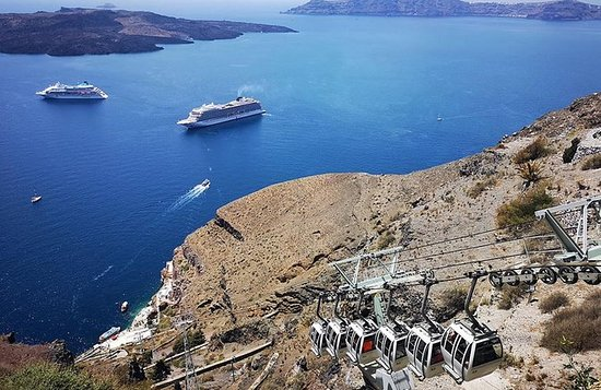 Santorini Cable Car Admission Ticket