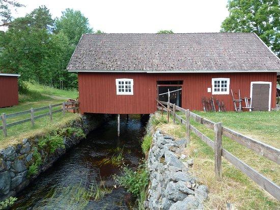 Savsjo, Suède : Skördemuseum i Komstad Bymiljö i Komstad