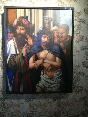 A painting in the courtroom