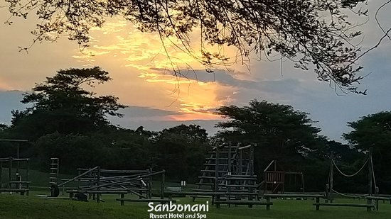 Sunset over the Obstacle course