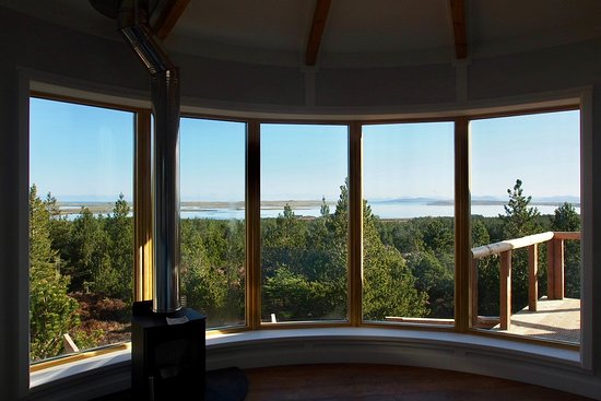 Uist Forest Retreat Ltd: View from Iolaire, looking out towards Harris Hills
