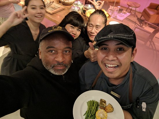 Mr. James goes to the JW Marriott in Singapore