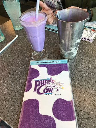 Famous Purple Cow Vanilla Shake with Extra Cup