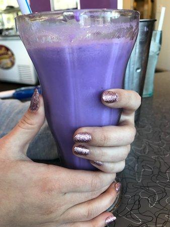 The Famous Purple Cow Vanilla Shake