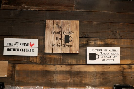 Elba, NY: Wood signs hand crafted locally.