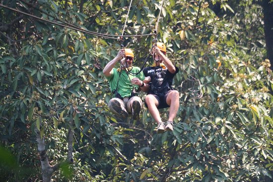"""Flight of the Gibbon Pattaya with Thai Lunch and Hotel Transfer: some """"tandem"""" zip lines"""
