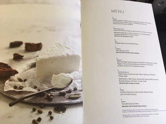AEGEAN: Business lunch menu
