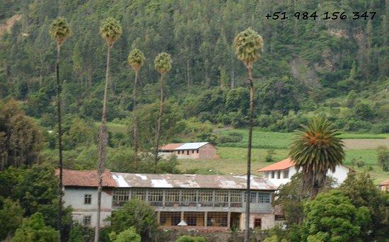 Limatambo, Перу: Vista de Hacienda Sondorf desde restos arqueológicos de Tarawasi