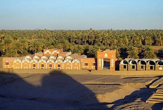 Kerma museum, near the western deffufa archaeological cemetery, Kerma, Sudan. The museum main building is inspired by the Nubian traditional architecture. note that deffufa in Nubian language means cemetery