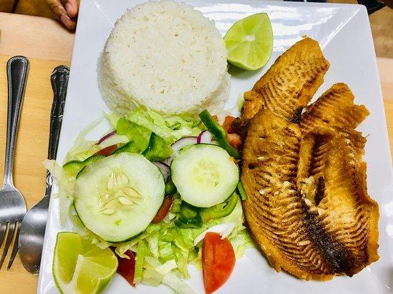 Garibaldi Peru-Mex_Sanju-11 - Fried Whole Tilapia with Rice-Beans & Salad