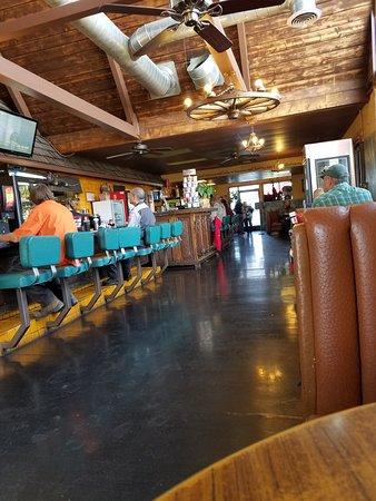 Inside Outpost cafe