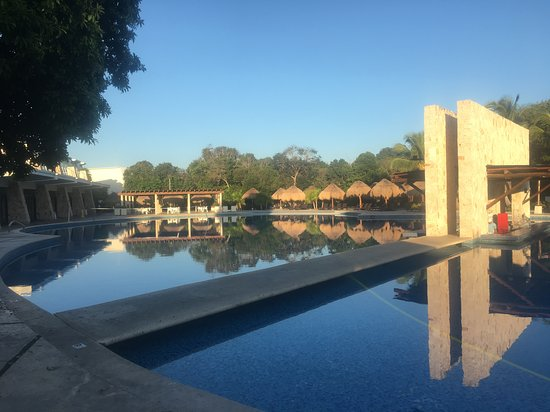 Beautiful pool area in the early morning before it gets busy