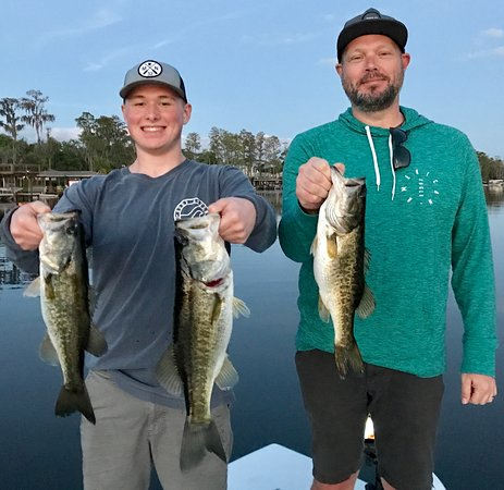 Native Bass Fishing Charters Orlando: Two new species caught for these guys, Bass and Chain Pickerel!