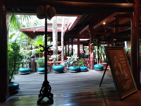 Siem Reap, Cambodia: One of luxury hotel in city and constructed by wooden Khmer style @triptocambodia