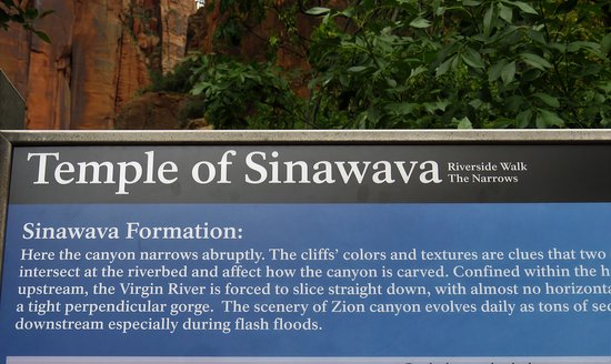 Temple of Sinawava Trail: 2435
