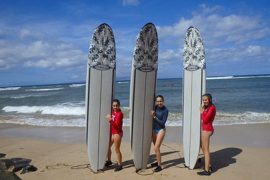 Lección de surf semiprivada en la...