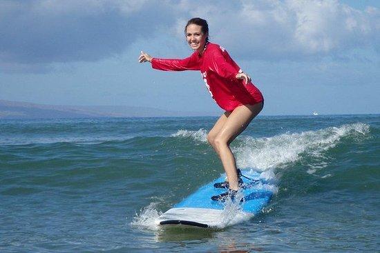 Lección de surf grupal para...