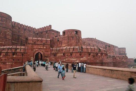 Agra og Taj Mahal ved soloppgang...