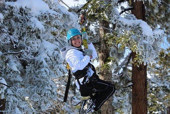 Zipline Tour - 9 høyhastighets zipliner og morsom fjærbro