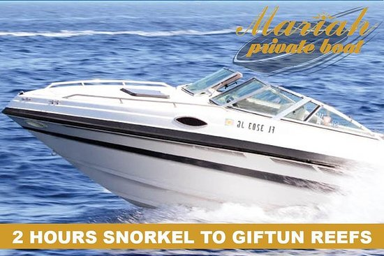 Private 3 hours glass botom boat trip: 2 HOURS SNORKELING IN GIFTUN ISLAND'S CORAL REEFS WITH A PRIVATE SPEED BOAT