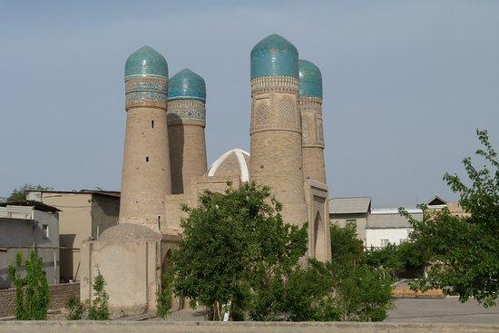 Immagini della città di Bukhara (Il Chor Minor)