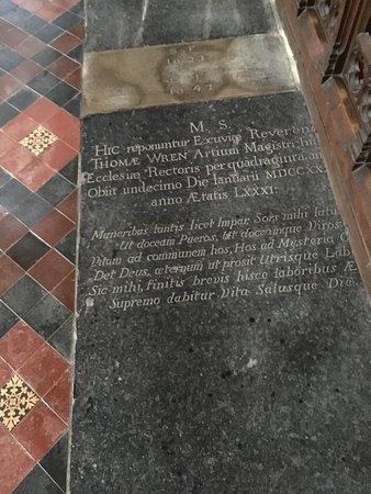 Reverent Thome Wren 1730.