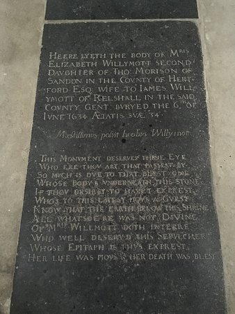 Mrs Elizabeth Willymott 1634.