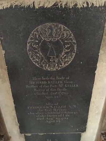 Richard Keller Gentleman Died 1765