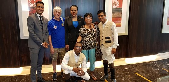 Raffles Dubai: Some of the staff that looked after us
