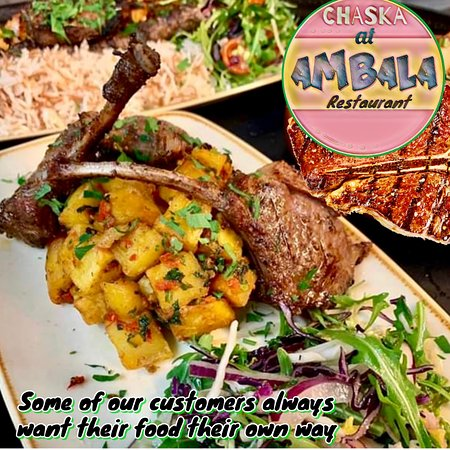 Do you buckle up To-Go?  C'mon admit it.  Mathematically, there are millions (trillions?) of ways to customize your Ambala's #food.  Like #LAMB #CHOPS - fully loaded. What's your choice?