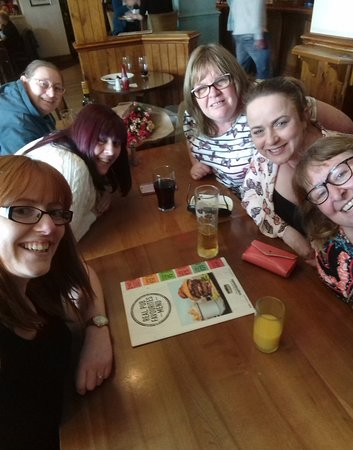 Our crafting group out for a meal in The Red Dragon