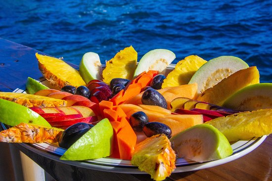 Tropical goodness--- fresh exotic fruits packed with sun and vitamins
