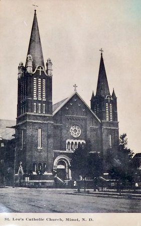 St. Leo's Catholic Church Post Card from 1913