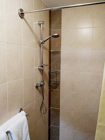 Venesis House: fully equipped bathroom with: toilet, shower, sink, hairdryer, free toiletries, towels
