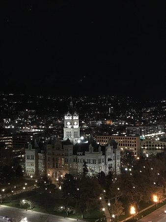 Room 2389 Nighttime view.