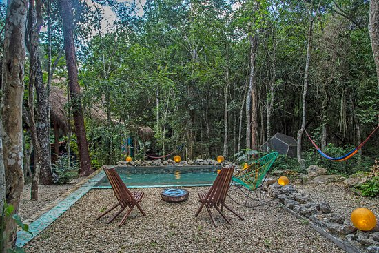 Lumapi: A plunge pool for cooling off on hot days. Filled with the underground cenote waters.
