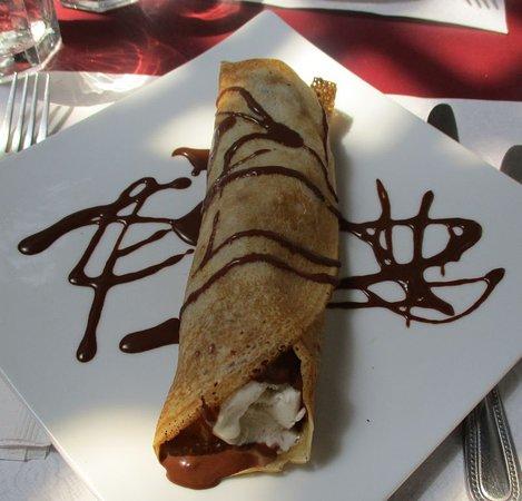 La Crepe Michel : Crepe Helene (pear/vanilla ice cream/chocolate)...