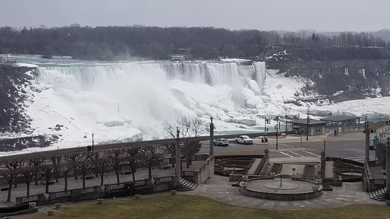 Sheraton on the Falls Hotel: View of part of falls from room
