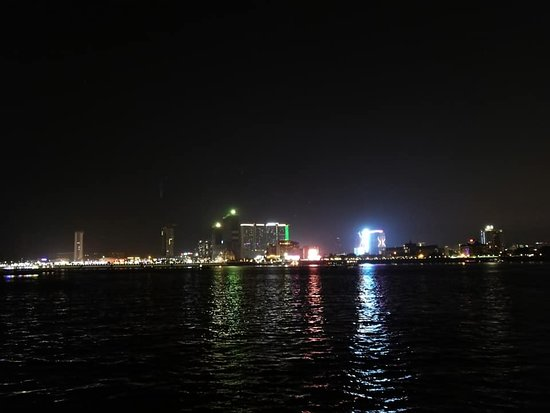 Mekong River: night view