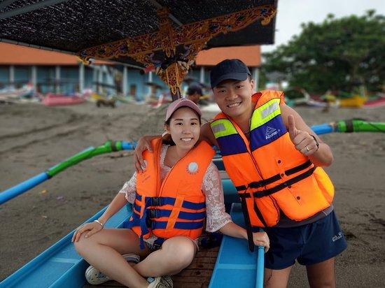 Tanah Lot, Indonézia: Really to go for fishing!!