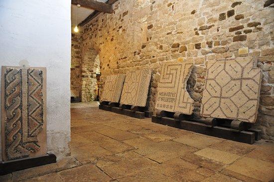 Mosaics well preserved inside