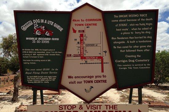 Corrigin, Úc: Signage And Map