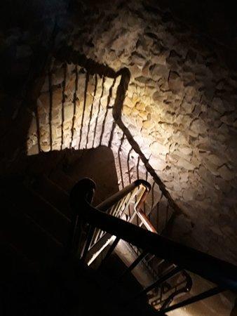 Bajada de las escaleras.