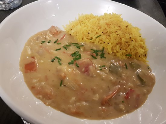Thai cod curry and rice a lovely special