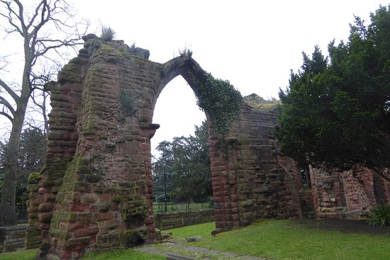 A part of the ruins of the original church