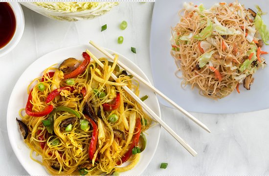 Curry & veggie fried noodles homemade by Sen Cuisine
