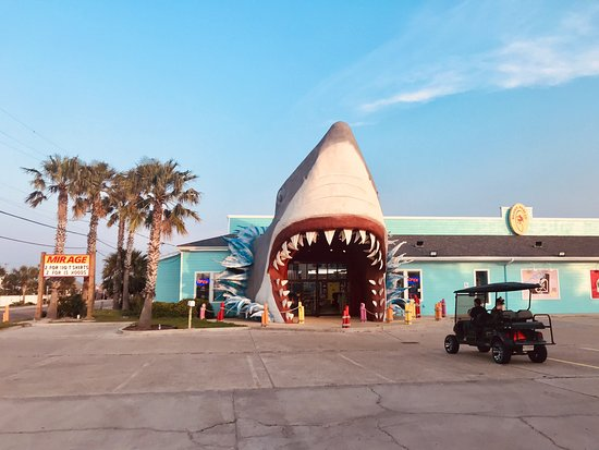 Big shark exteriors are the fashion in Port Aransas.