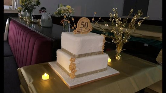 The cake for the 50th anniversary of Lichfield Social Club from December 2019.